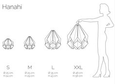 Lámpara origami XXL Lámpara colgante de gran por TedzukuriAtelier