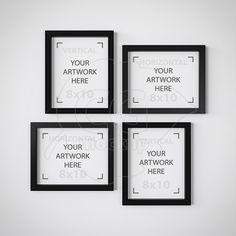 8x10 set mockup black frame mockup collage frame digital product mockup white backdrop printable download styled stock wall art mock