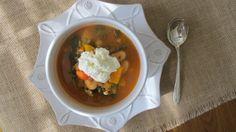 Chorizo, butter bean, & veggie soup | Squash Blossom Kitchens