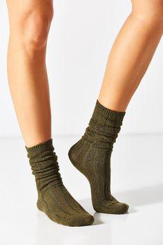 Slouchy Ribbed Sock