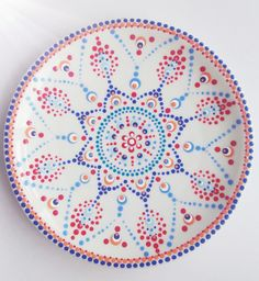 #stipjunkies #workshops #Netherlands Mandala Dots, Mandala Pattern, Mandala Design, Mandala Painting, Dot Painting, Painting Patterns, Pottery Painting, Ceramic Painting, Ceramic Art