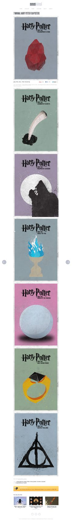 minimal harry potter posters