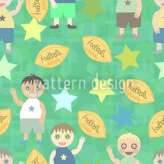 Football And Friends designed by Anny Cecilia Walter available on patterndesigns.com