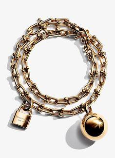 Tiffany HardWear wrap bracelet in 18k gold.