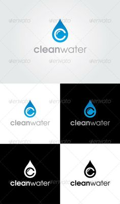 Clean Water Logo Template - GraphicRiver Item for Sale