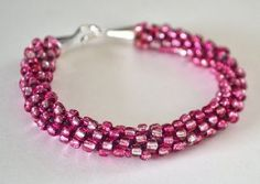 basic kumihimo braiding and dressing it up with glamorous beads. This seed bead bracelet is a