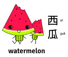 Replenish your energy by eating some watermelon 西瓜 [xīguā] today! Did you know that 西瓜 helps you get a good night's sleep? So don't forget to eat some xīguā for the long weekend and rest up!    From our new app Learn with Miaomiao: Chinese, now available in the App Store!  #miaomiao #preschool #chinese #mandarin #learning #preschool #languages