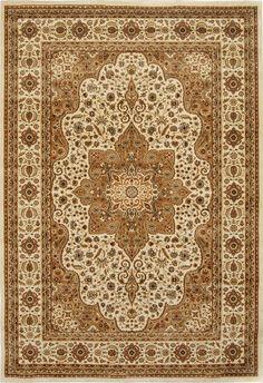 "PERSIAN BEIGE IVORY AREA RUG 8X8 ROUND ORIENTAL 1128C - ACTUAL 7' 8"" #RegencyRugs #TraditionalPersianOriental"