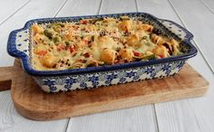 Ovenschotel sperziebonen, rode paprika en gehakt - Homemade by Joke Good Food, Yummy Food, Oven Dishes, Goulash, Teller, Diy Food, Tapas, Macaroni And Cheese, Meal Prep