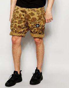 Immagine 1 di G-Star - Rovic - Pantaloncini cargo larghi beige con stampa mimetica