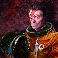 David Bowie [Tom Colbie] by jackskarma