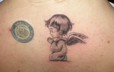 baby angel tattoos gallery