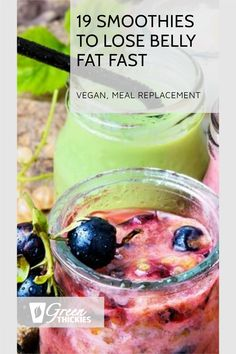 Here is the perfect collection of 19 smoothies to lose belly fat fast. What makes this collection of weight loss smoothies different? They actually work! Protein Fruit Smoothie, Raw Vegan Smoothie, Smoothie Prep, Fruit Smoothie Recipes, Smoothie Ingredients, Make Ahead Smoothies, Good Smoothies, Breakfast Smoothies, Shake Diet