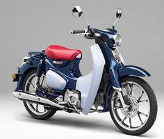 Honda Super Cub 125 Concept @ Tokyo Motorcycle Show 2017 Honda Cub, Honda Motors, Honda Bikes, Vespa, Mopeds For Sale, Trike Bicycle, New Motorcycles, Commuter Bike, Moto Guzzi