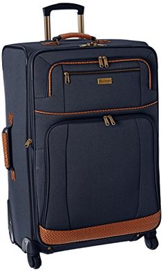 Tommy Bahama Mojito 24 Inch Expandable Spinner, Navy, One Size: Iconic basket weave trim Cheap Luggage, Best Luggage, Travel Luggage, Luggage Brands, Luggage Sets, Luggage Online, Best Suitcases, Travel Suitcases