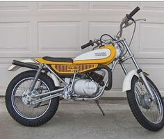 1976 Yamaha TY80 Trials Bike. I don't remember why I sold this bike it was an excellent machine which never  broke and could go anywhere. Wish I still had it....