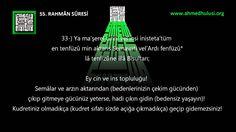 """55 Rahman Suresi: """"www.Ahmed Hulusi.org"""", KUR'ÂN-I KERÎM ÇÖZÜMÜ, Abdussa..."""