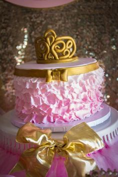 Pink and Gold Birthday Party Ideas | Photo 6 of 30 | Catch My Party