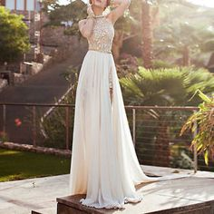 Sexy-Womens-Lace-Chiffon-Backless-Bridesmaid-Formal-Party-Evening-Dress-Gown