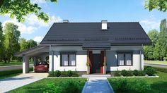 Ciekawa koncepcja projektu domu do późniejszej rozbudowy. Projekt jest wstępnie przystosowany do budowy w dwóch etapach.