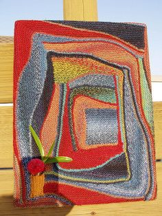 Here is a wonderful example of strick rausch aka swing knitting. Made and shared by nordlicht500.