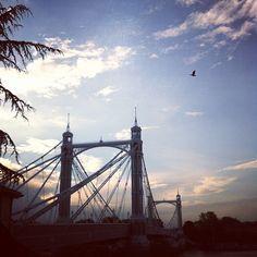 Sun over Albert Bridge, London