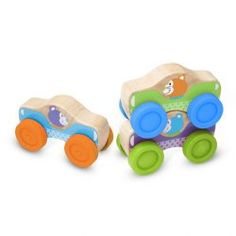 Melissa & Doug First Play Wooden Animal Stacking Cars (Baby & Toddler Developmental Toy, 3 Pieces, Great Gift for Girls and Boys - Best for Babies and Toddlers, 9 Month Olds, 1 and 2 Year Olds) Wooden Car, Wooden Toys, Animal Puzzle, Stacking Toys, Melissa & Doug, Developmental Toys, Wooden Animals, Gross Motor Skills, Free Fun