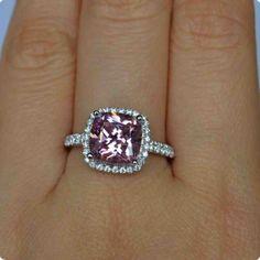2 Carat Pink Diamond Engagement Ring