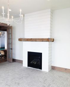House of Jade Interiors, – Fireplace mantels – Audioroom Farmhouse Fireplace Mantels, Shiplap Fireplace, Home Fireplace, Fireplace Remodel, Fireplace Design, Fireplaces, Diy Faux Fireplace, Simple Fireplace, Living Room Mantle