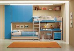 for 2 boys Loft Bedroom Kids, Kids Bedroom Designs, Girls Bedroom, Bedroom Decor, Bunk Bed Rooms, Bunk Beds, Boy Room, Kids Room, Indian Room Decor