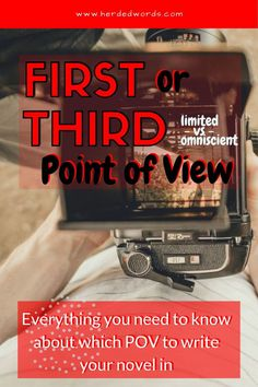 Choosing a POV for a novel can be difficult. Compare first, third limited and third omniscient points of view and make the best choice for your novel. Writing A Novel Tips, Memoir Writing, Fiction Writing, Writing A Book, Writing Prompts, Writing Resources, Fiction Books, Writing Practice, Writing Help