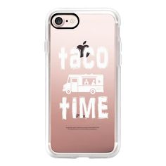Taco Time - iPhone 7 Case, iPhone 7 Plus Case, iPhone 7 Cover, iPhone... ($40) ❤ liked on Polyvore featuring accessories, tech accessories, iphone case, iphone cases, iphone cover case and apple iphone case