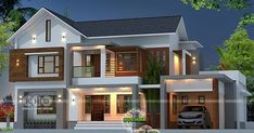 House Structure Design, House Outer Design, House Roof Design, House Outside Design, Village House Design, Kerala House Design, Bungalow House Design, Facade House, 4 Bedroom House Designs