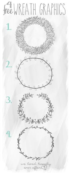 We Lived Happily Ever After: 4 Free Wreath Graphics