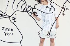 Shantell Martin, Bata Shoe Museum Drawing Performance and Window Installation Bata Shoes, Clothing Photography, Kendrick Lamar, Basel, Photo Illustration, Ladies Day, Celebrities, Artwork, Museum