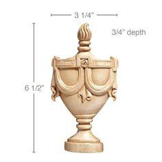Small Urn, 3 1/4''w x 6 1/2''h x 3/4''d