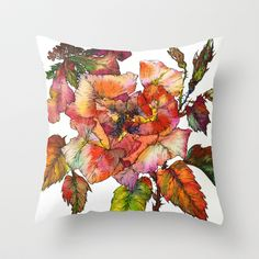 Wild Rose 2 Throw Pillow by Sofia Perina-Miller - $20.00
