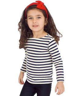 American Apparel Kids Sailor Stripe Long Sleeve Pullover $29.00 #topseller