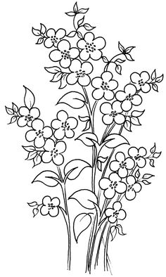 Template For Stained Glass Cake Painting Stalk Of Flowers