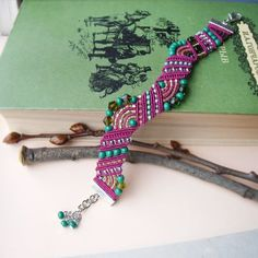 A new freeform bracelet   Materials used: Czech seed beads and beads, Toho beads, C-lon nylon bead cord, findings.
