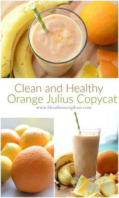 Healthy Orange Julius Copycat Recipe (dairy free) that tastes just like the real…