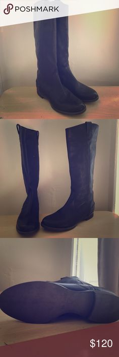 """Madewell Leather Boots PRODUCT DETAILS - Size 7.5 - Never Worn!  Just so timeless—a gorgeously straightforward, flat-heel style in the richest Italian leather.  Hits above calf. Italian leather upper. 15 1/2"""" shaft height (based off size 7). 14 1/4"""" shaft circumference (based off size 7). 3/4"""" heel. Leather lining. Man-made sole. Madewell Shoes Winter & Rain Boots"""