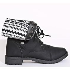 3930cb7900fbb2 Aztec Tapestry Inset Combat Boots ( 25) ❤ liked on Polyvore featuring shoes