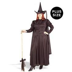 Forum Novelties Women's Plus-Size Wild N' Witchy Plus Size Classic Witch Costume - Plus, Black