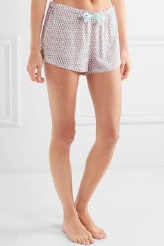 Calvin Klein Underwear - Printed Voile Pajama Shorts - Pastel pink - x small