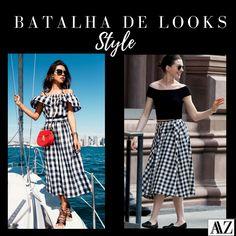 BATALHA DE LOOKS  VESTIDO VICHY X SAIA VICHY Waist Skirt, High Waisted Skirt, Looks Style, Photo And Video, Skirts, Instagram, Fashion, Battle, Skirt