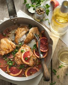 Sicilian Chicken Piccata recipe    http://blog.justbarechicken.com/2012/seasonal-twists-on-chicken-classics