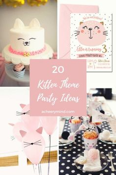 20 Kitten Theme Party Ideas | acheerymind.com