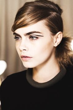 Cara for Rag and Bone, love her brows.