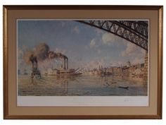 JOHN STOBART (ENGLISH, B. 1929), ST LOUIS, THE GATEWAY TO THE WEST IN 1878, SIGNED & NUMBERED Item #: 35009 $950.00